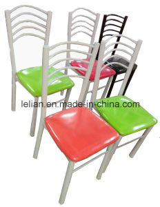 Cheap Metal Structure with Soft Pad Seating Restaurant Dining Chair (LL-DC003) pictures & photos