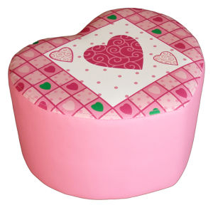 Love Heart Children Furniture Step Stool and Ottoman (SXBB-170) pictures & photos