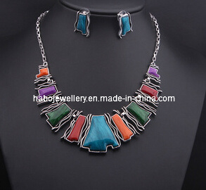 Square Stone Jewelry Set/Fashion Necklace Set (XJW13210) pictures & photos