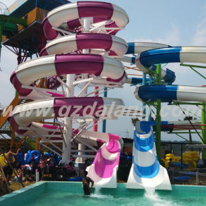 Combination Spiral Slide Made of Fiberglass (WS112) pictures & photos