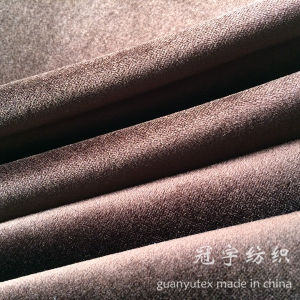 Short Hair Upholstery Sofa Velour Compound Fabrics pictures & photos