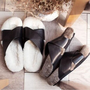 Fashion Sheepskin Slippers for Men and Women pictures & photos