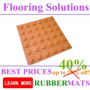 Sp-Bl Blind Rubber Flooring Tiles for Tactile Mat pictures & photos