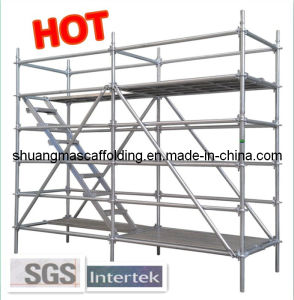 HDG Painting Layher Scaffold, Factory in Guangzhou. pictures & photos