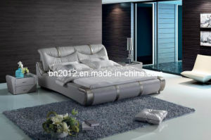 Modern Genuine Leather Bed (SBT-5839) pictures & photos