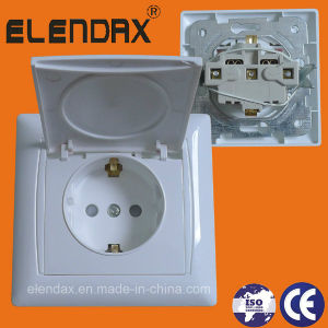 Europe Style Flush Mounted Wall Socket Outlet IP22 (F6510) pictures & photos