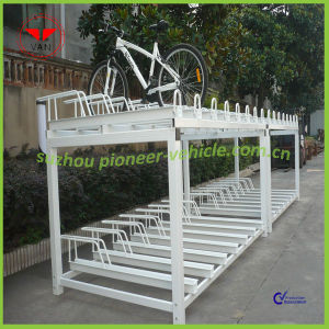 OEM Double Deck Bike Stand 16 Bike Parking Space pictures & photos