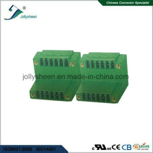 Pluggable Terminal Blocks 6pin 180deg Straight with Right Angle Housing pictures & photos