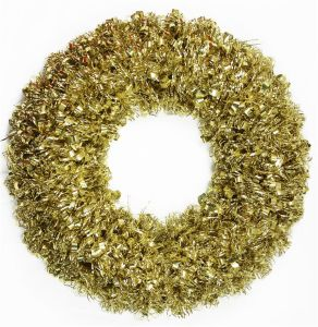 Tinsel Christmas Wreath with Plastic Frame