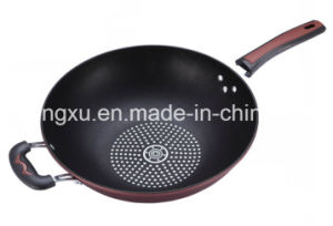Pure Iron Non-Stick No-Oil Smoke Pure Iron Aluminum Wok Sx-N028 pictures & photos