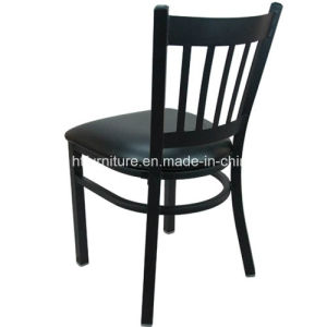 Vertical Back Metal Restaurant Chair with Vinyl Seat pictures & photos