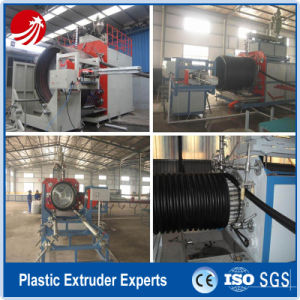 Plastic HDPE Pipe Hollow Tube Pipe Making Machine Production Line pictures & photos