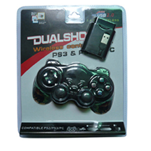 3 in 1 Wireless Double Shock Joystick for PS3/PS2/PC