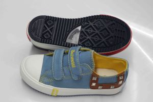 Latest Design Vulcanized Rubber Outsole Canvas Shoes for Kids (SNK-02091) pictures & photos