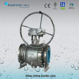 Ss Stainless Steel CF3 304L Trunnion Ball Valve pictures & photos