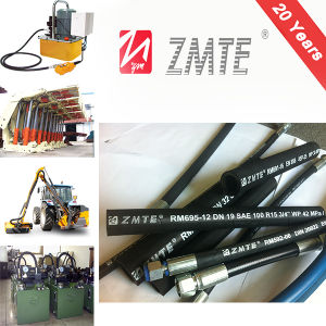 Flexible Rubber Hydraulic Hose R15 pictures & photos