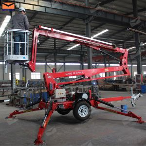 14m Trailer Cherry Picker Lift for Roof Cleaning pictures & photos