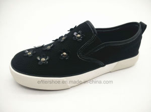 2016 New Design Women Canvas Shoes with Rubber Outsole (ET-YH160102W)