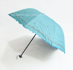 3 Folding Fashionable Lady Umbrella pictures & photos