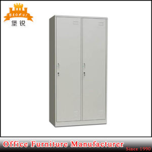 Two Doors Flat Pack Steel Furniture Metal Clothes Cabinet pictures & photos