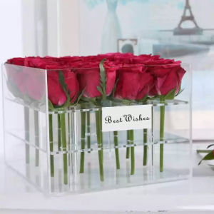Handmade Flower Gift Box Acrylic Flower Box for Sale pictures & photos