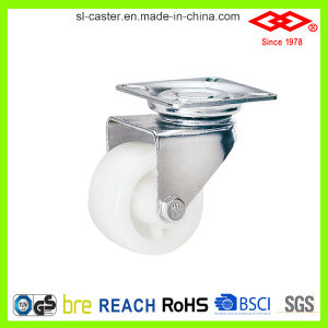 White Plastic Twin Wheel Caster (P190-30B050X30) pictures & photos