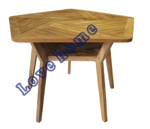 Modern Dining Restaurant Knock Down Wooden Teak Table pictures & photos