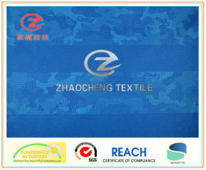 0.3*0.3 Ribstop Poly Pongee Blue Printing Fabric (ZCBP136)