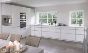 AKURUM Wall cabinet with 2 doors - birch effect, Abstrakt