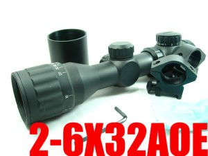 S22 2-6x32 Aoe R&G Illuminated Range Finder Rifle Scope