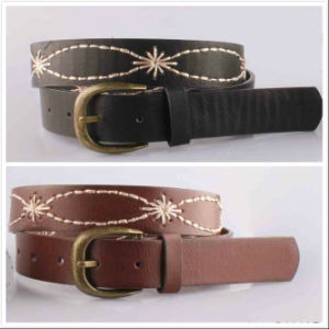 Aw Leather Embroidered Women Evening Belt pictures & photos