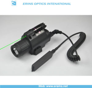 Lightweighted Plastic Housing Green Laser Sight and 200 Lumens CREE Q5 LED Flashlight Combo pictures & photos