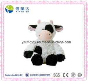 Soft Plush Black and White Dairy Cattle Stuffed Baby Toy pictures & photos