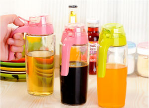 500ml /750ml Oil and Soy Sauce Vinegar Glass Bottle with Nozzle Cap pictures & photos
