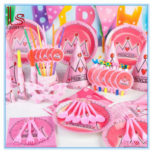 Birthday Party Supplies Crown Princess Theme Baby Girl Birthday Party Products Decoration pictures & photos