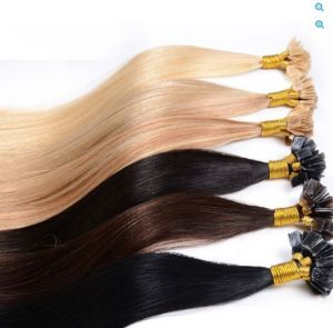 Pre-Bonded Keratin Flat Tip Hair Extensions/Fusion Hair Extensions/7A Grade Human Hair Extensions pictures & photos