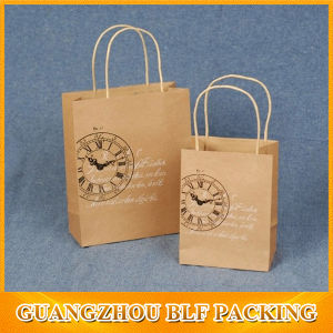 Mini Brown Paper Shopping Bags pictures & photos