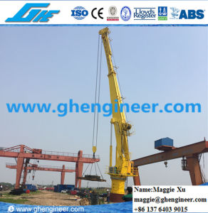 10t Hydraulic Telescopic Boom Ship Deck Marine Crane pictures & photos