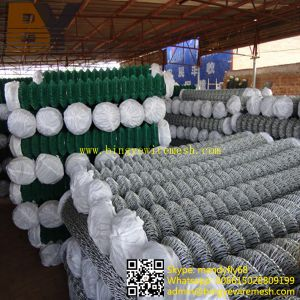 Galvanized Diamond Metal Fencing PVC Coated Chain Link Fence pictures & photos