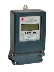 Low Power Consumption Three Phase Electronic Energy/Power Meter with LCD pictures & photos