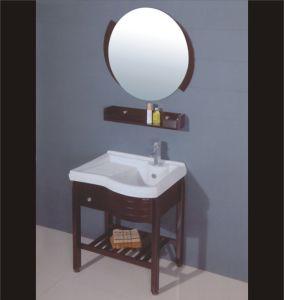 Oak Wood Bathroom Cabinet (B-198) pictures & photos