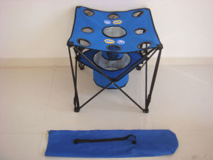 Folding Table with Cooler Bag and Cup Holders (MW12015) pictures & photos