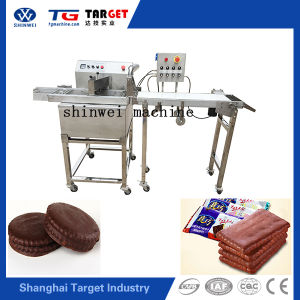 Cheap and Fine Semi Automatic Small Chocolate Enrobing Machinery pictures & photos