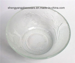 Emboss Rose Glass Bowl / Decorative Bowl pictures & photos
