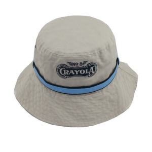 Custom Heavy Washed Cotton Twill Bucket Hat with Band pictures & photos