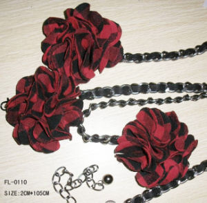 Chain Belt with Fabric Flower (FL-0110)
