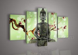 Wholesale Wall Decor Buddha Oil Painting on Canvas (BU-008) pictures & photos
