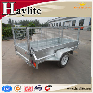 Single Axle 7X5 Used Trailer Tipping Box Trailer with Cage From China Manufacture pictures & photos