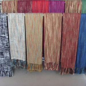 Fringed Acrylic Fleece Throw pictures & photos