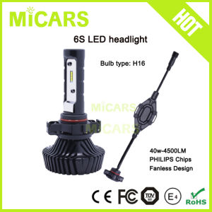 Newest Design Fanless Philips 4500lm H16 Car LED Headlight pictures & photos